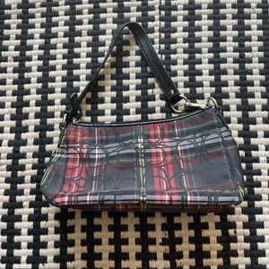 Coach Poppy Tartan Plaid Mini Handbag
